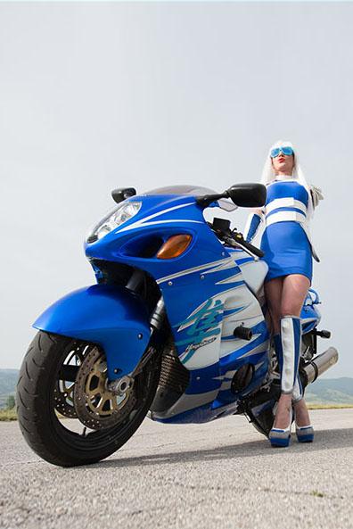 Blue Hayabusa